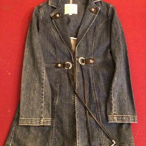 Brighton denim trench coat jacket